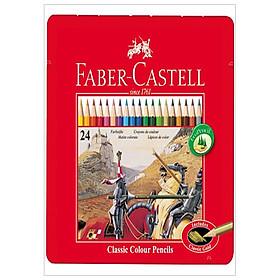 Faber-Castell-Chì Màu Rl Classic-24 Màu Dài (Hộp Thiếc)