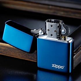 Bật lửa Zippo Xanh Sapphire (trơn bóng xanh) - Zippo Fullbox