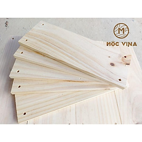 Combo 5 tấm gỗ thông mới đẹp dài 45cm,rộng 13.5cm,dày 1.4cm khoan 4 lỗ treo trang trí, làm kệ Mộc Vina