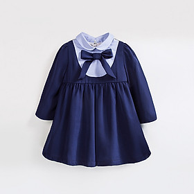 Hình đại diện sản phẩm Muben still Mubenshang 2018 new spring and autumn clothes female children long-sleeved college wind dress children baby 9 months female baby 0-123 two-year-old British