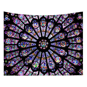 Notre Dame De Paris Mandala Tapestry 200x150cm Bohemian Tapestry Wall Carpet Home Decor Tapestry Large Picnic Blanket