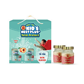 Lốc Nước Yến Kid's Nest Plus+ Total Protect (6 lọ x 70ml) Tặng 2 Lọ Yến Thiên Việt