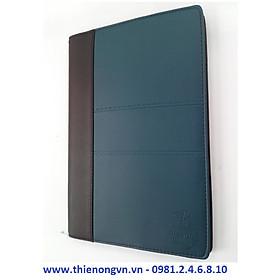Sổ giả da Bureau A4 - 200 trang; Klong 330M bìa xanh đậm