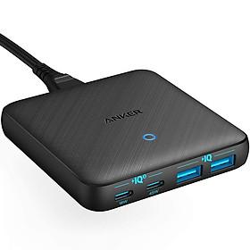 Adapter sạc Anker 4 cổng 63W / 45W GaN + PIQ 3.0 PowerPort Atom III Slim Tích Hợp USB Type-C - A2046 - Hàng chính hãng