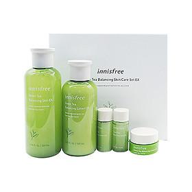 innisfree new green tea essence moisturizing balance water lotion set 2 piece set