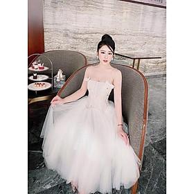 Đầm dự tiệc công chúa 2 dây TRIPBLE T DRESS size M/L (kèm ảnh/video thật) MS289V