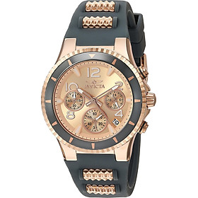 Invicta Women's BLU Stainless Steel Quartz Watch with Silicone Strap, Two Tone, 1 (Model: 24189)