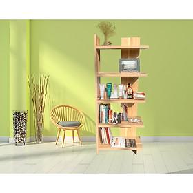Kệ sách góc tường gỗ CN HT1250