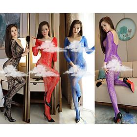 Bộ ngủ ren lưới toàn thân dài tay sexy BD015, đồ ngủ gợi cảm, đồ lót sexy, đồ ngủ cosplay, freesize