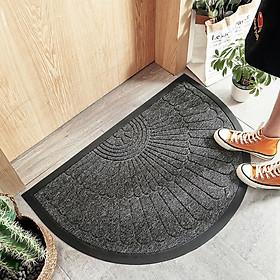 Thảm chùi giày dép siêu bền CAO CẤP, chiếc thảm bán nguyệt có thể đặt ngay cửa ra vào. Đặc biệt thảm chùi giày dép được làm từ Polypropylene chịu được ma sát tốt.