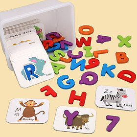 Bộ thẻ ghép chữ và số giúp bé học chữ và nhận biết con vật