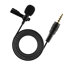 Portable Professional Grade Lavalier Microphone 3.5mm Jack Hands-free Omnidirectional Mic Easy Clip-on Perfect for