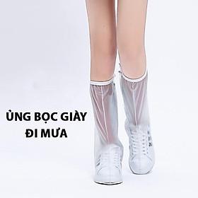 Ủng bọc giày đi mưa cổ cao - Đế cao su - Chống nước - Chống trượt - Nhựa PVC cao cấp