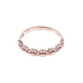 Nhẫn vàng hồng DOJI cao cấp 14K 0819R-LAL346
