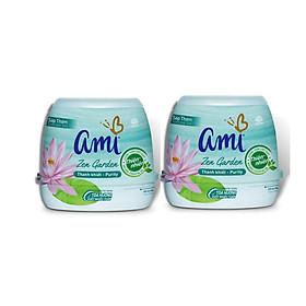 Combo 2 hộp Sáp thơm khử mùi Ami - Hương thơm chiết xuất thiên nhiên, Tỏa hương suốt nhiều tuần (Nhiều lựa chọn mùi hương)