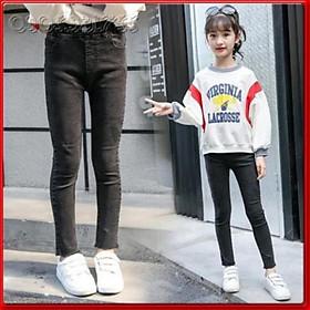 QJ26Size 110-160 (15-40kg)Quần jean skiny bé gáiThời trang trẻ Em hàng quảng châu  - QUẦN JEAN ỐNG LOE