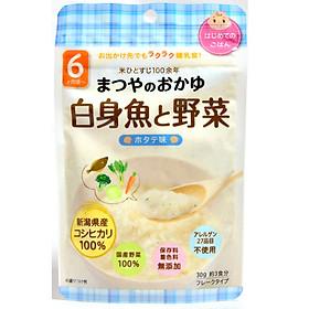 Hình đại diện sản phẩm Cháo ăn dặm gạo Koshihikari, thịt trắng và rau (vị sò điệp) Matsuya (6m+)