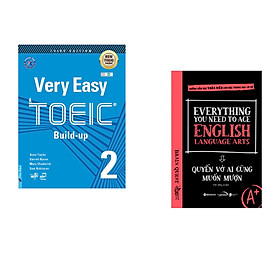 Combo 2 cuốn sách: Very Easy Toeic 2 - Build Up + Everything You Need To Ace English Language Arts – Quyển Vở Ai Cũng Muốn Mượn