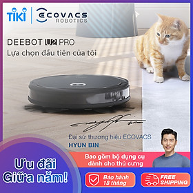 Robot hút bụi lau nhà thông minh Ecovacs Deebot OZMO U2 PRO - Hàng chính hãng - Phiên bản Quốc Tế