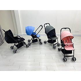 Xe đẩy em bé Vovo 2 chiều 2019, chât liệu hợp kim platinum, tải trọng 50 kg, đệm nằm thiết kế chống cong vẹo cột sống của bé