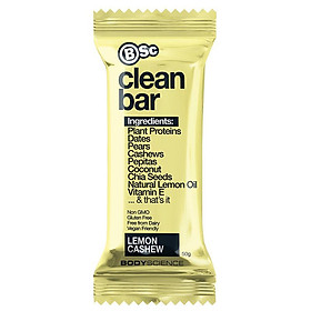BSc Clean Plant Protein Bar Lemon Cashew 50g