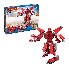 Đồ Chơi Lắp Ráp Chiến Binh Ratchet Lele Brother - Transformer Fighter 3in1 8272 (134 Mảnh Ghép)