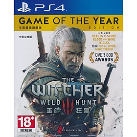 Đĩa Game PS4 The Witcher 3 Wild Hunt Game Of The Year Edition Full DLC Hệ Asia - Hàng Nhập Khẩu