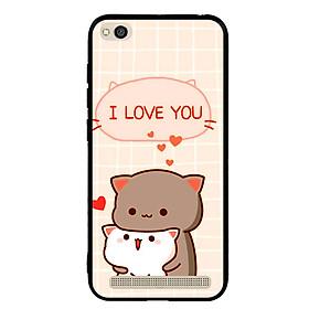 Ốp lưng viền TPU cho điện thoại Xiaomi Redmi 5A - I Love U