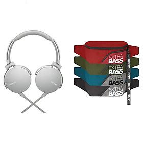 Tai Nghe Chụp Tai Sony ExtraBass MDR-XB550AP + Quà tặng Túi đeo chéo Extrabass - Hàng Chính Hãng