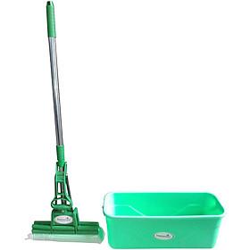 Combo cây mop lau nhà 2 trục Homeeasy HP0540 + Xô đựng nước lau nhà 45cm (giao màu ngẫu nhiên)