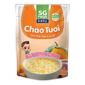 Cháo Tươi Baby Thịt Thăn Bằm Bí Đỏ SG Food (240g)