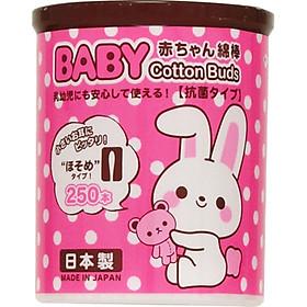 Bông Ngoáy Tai Trẻ Em Hộp 250 Chiếc Nhật Bản + Tặng Trà Sữa Matcha / Cafe Macca