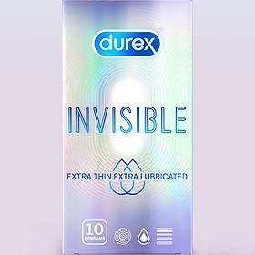 Bao cao su Durex Extra Thin Extra Lubricated (Hộp 10 Cái)