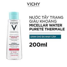 Nước tẩy trang Mineral Micellar Water cho da nhạy cảm Vichy Pureté Thermale 200ml