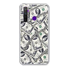 Ốp lưng điện thoại Realme 5 Pro - Silicon dẻo - 0355 DOLLAR02 - Hàng Chính Hãng