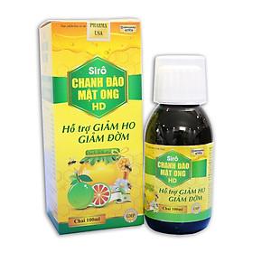 Siro ho cho bé Chanh Đào Mật Ong giảm ho, giảm đờm, giảm viêm họng cho bé từ 1 tuổi - Chai 100ml thành phần chanh đào, mật ong, kim ngân hoa, mơ muối, cam thảo
