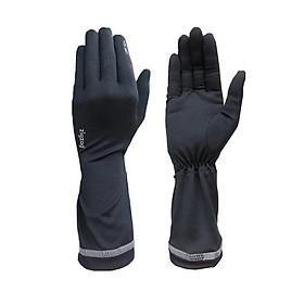 Găng tay nữ chống nắng UPF50+ đen Zigzag GLV00309