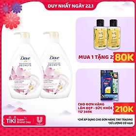 Combo 2 Sữa Tắm Dove Căng Bóng Sáng Mịn 530g