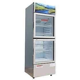 TỦ MÁT 2 CỬA SANAKY 240 LÍT VH-308WL NHÔM (LOW-E) (R600A) - hàng chính hãng