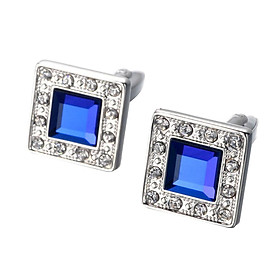 2pcs Mens French Shirt CuffLinks Crystal French Shirts Buttons Cuff Links