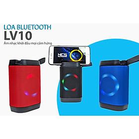 Loa bluetooth cầm tay LV10 - có đèn nháy, giá đỡ điện thoại - Bass siêu trầm, cực thời thượng (chọn màu ngẫu nhiên)