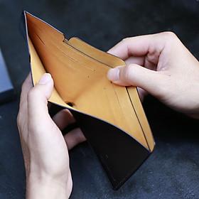 Ví da nam thông minh chống trộm Invisible Wallet - Cầm tay đựng thẻ, da bò Ý cao cấp, mini nhỏ gọn