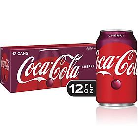 Thùng 12 lon Nước ngọt Coca Cola Cherry lon 355ml