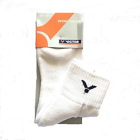 Combo 5 đôi tất thể thao Victor chính hãng, 100% cotton, co giãn tốt