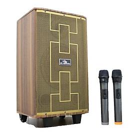 Loa kéo di động 2 tấc Kiomic K89 - Loa kéo hát karaoke - Đầy đủ cổng kết nối -  Tặng kèm 2 micro UHF - Công suất cao, chất lượng âm thanh cực chuẩn - Hàng nhập khẩu