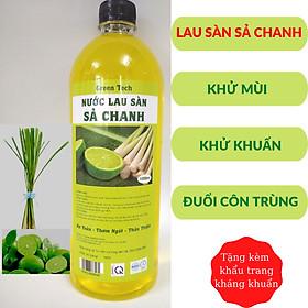 Nước Lau Sàn Sả Chanh 1000ml - Xua Đuổi 100% Côn Trùng - An Toàn Cho Da - Cho Nhà Luôn Thơm Ngát