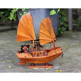 Mô hình thuyền buồm gỗ Rồng Hạ Long - thân tàu 40cm - trang trí nhà cửa - phòng khách - bàn làm việc, quà tặng tân gia - sinh nhật - khai trương