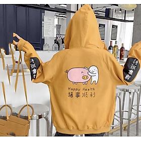 Áo khoác nữ dù in chú Heo