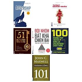 combo 5 cuốn:Leadership + Tư duy doanh nhân hành động lãnh đạo + Để trở thành nhà lãnh đạo truyền cảm hứng + Đội nhóm bất khả chiến bại + 100 phương pháp  truyền động lực cho đội nhóm(tặng cuốn thành công-101 nhà lãnh đạo cần biết)