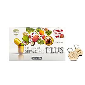 Thực phẩm bảo vệ sức khỏe Slim and Fit (30 viên) - Hỗ trợ giảm cân, nâng cơ mông + Tặng kèm móc khoá CLĐ